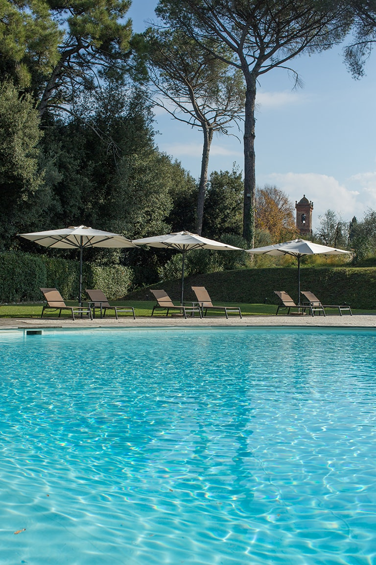 infinity pool of luxury resort of Karma Borgo Di Colleoli