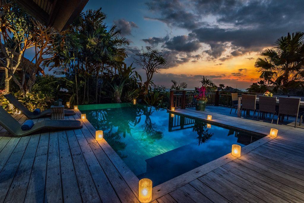 enjoy sunset in luxury hotel of karma kandara