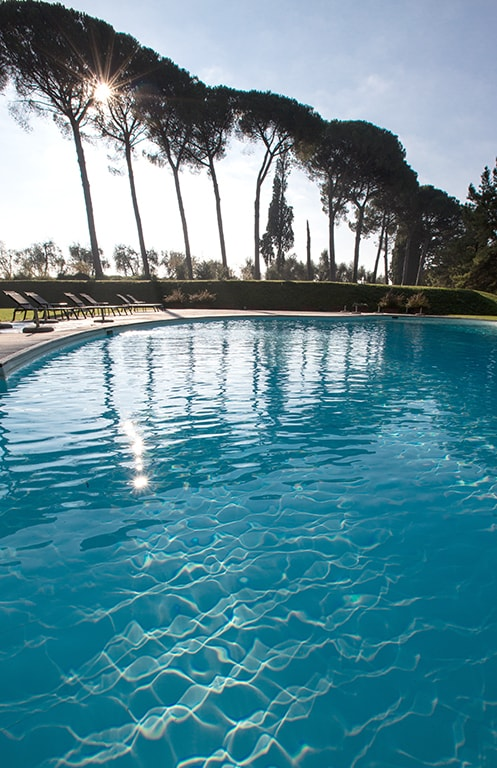 infinity pool of luxury resort of Karma Borgo Di Colleoli