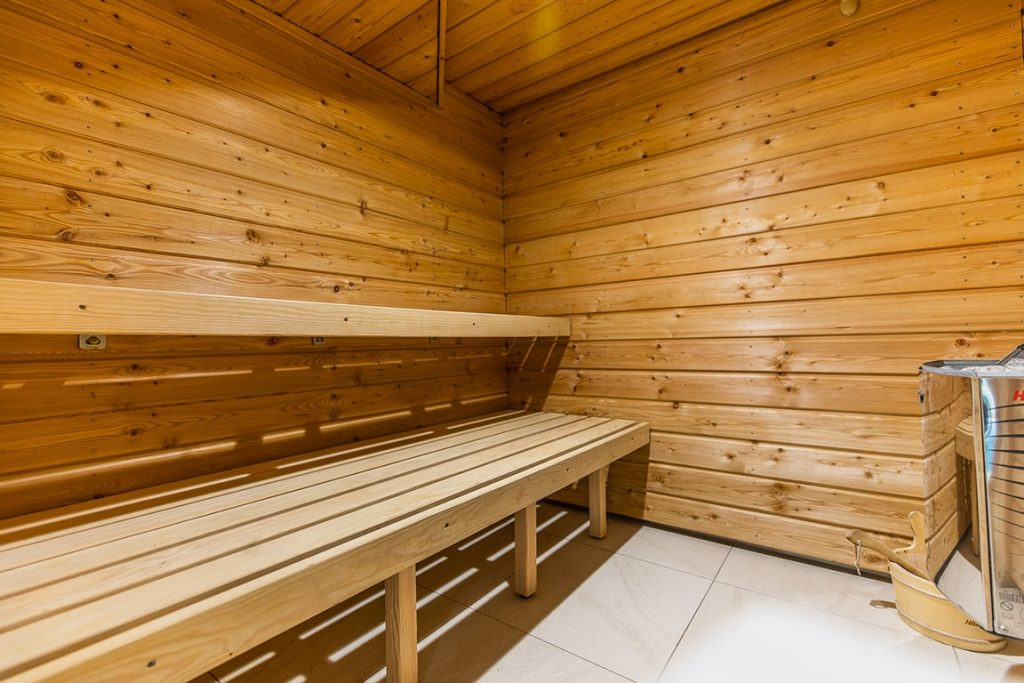 enjoy sauna on wood cabin of Luxury residence karma Normande