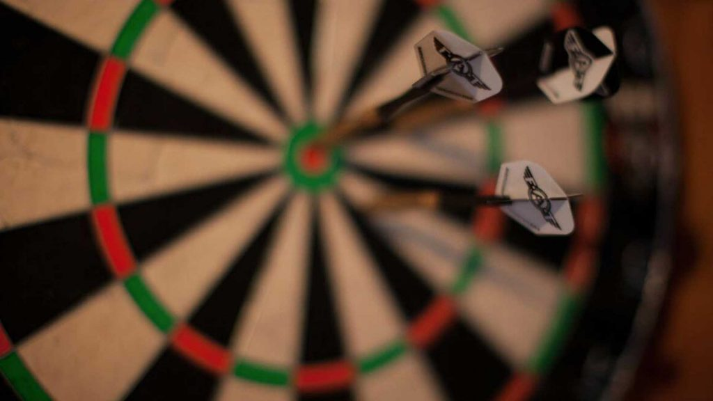 Le Preverger Darts in the Bar, France