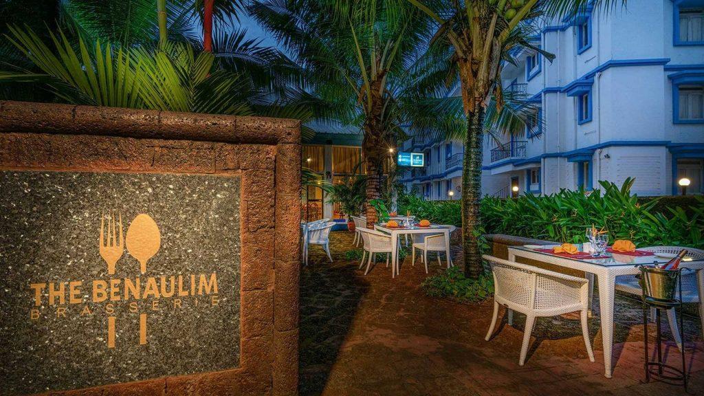 Karma Royal Palms Benaulim Brasserie Outdoor Seat, Goa, India