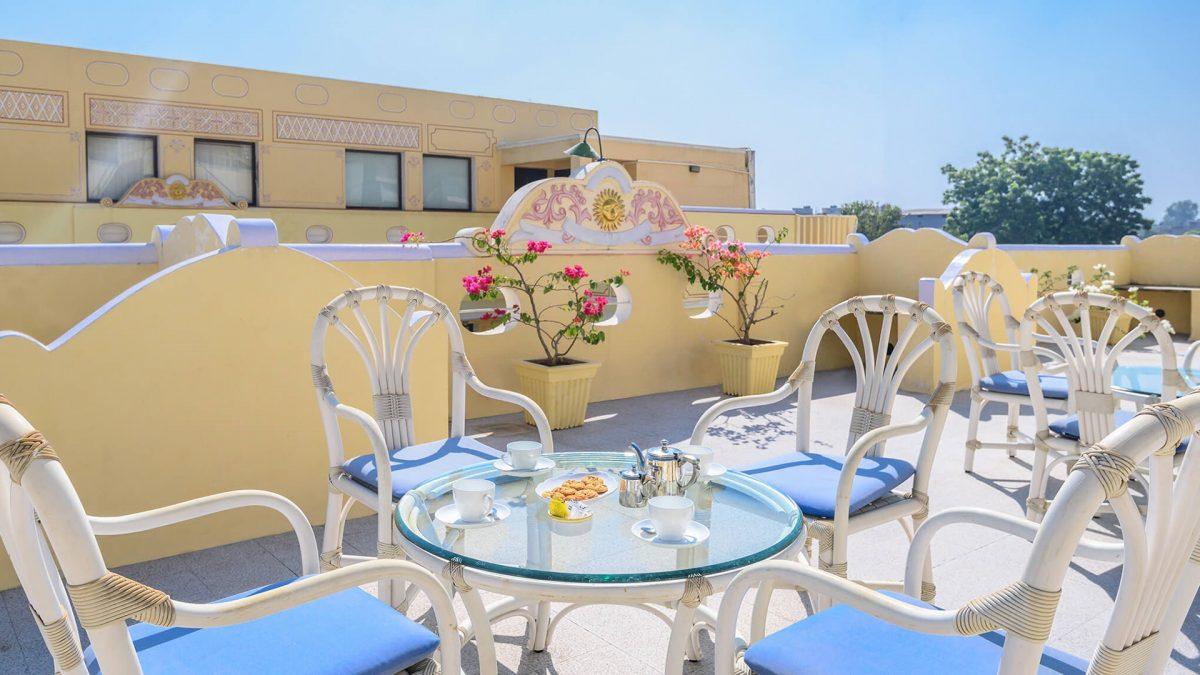 rooftop restaurant, luxury hotel karma haveli, goa, India