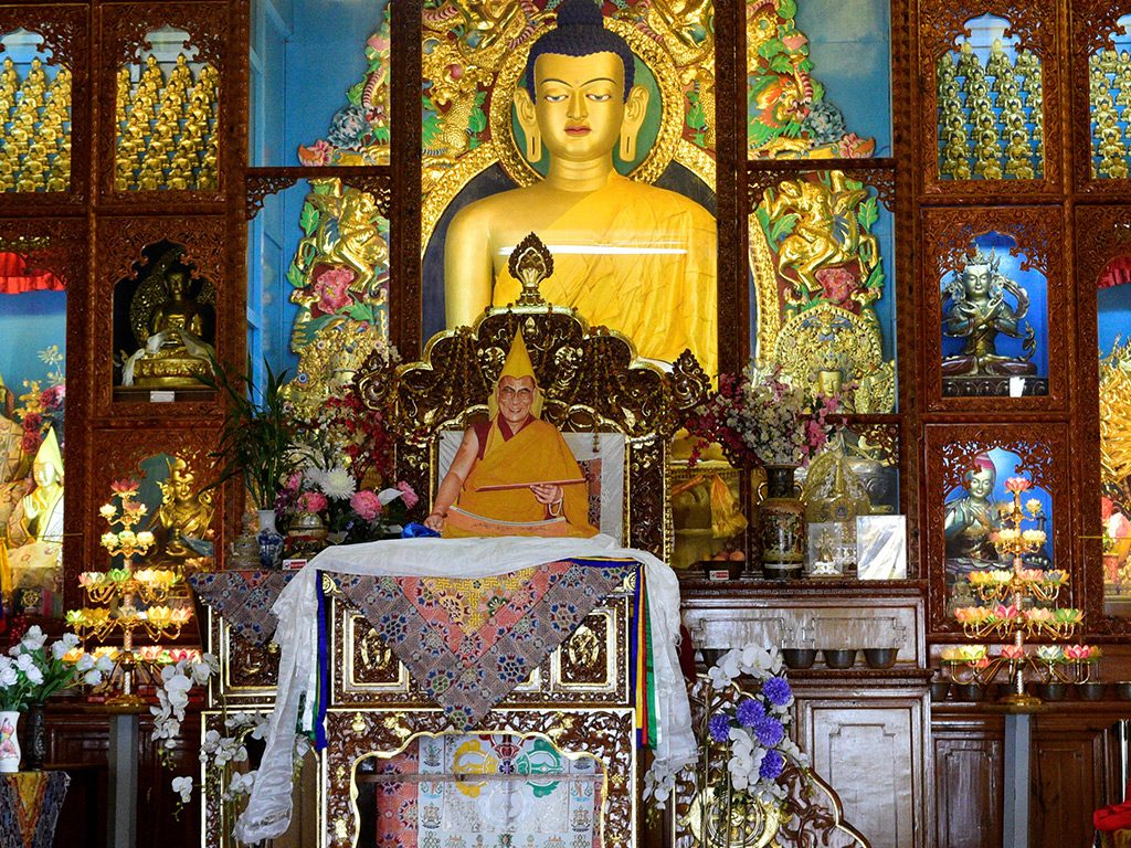 Buddhist temple with great temple on luxury hotel Karma Exotica