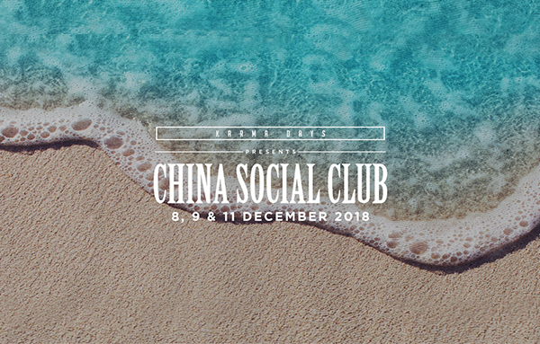 Shanghai sounds: China Social Club plays at Karma Beach Bali, Dec 8-11.