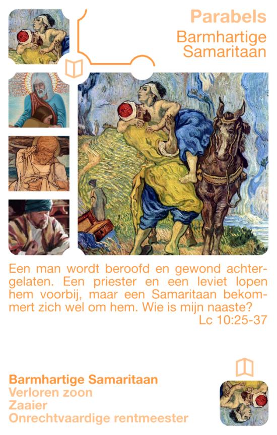 Kwartetkaart Barmhartige Samaritaan