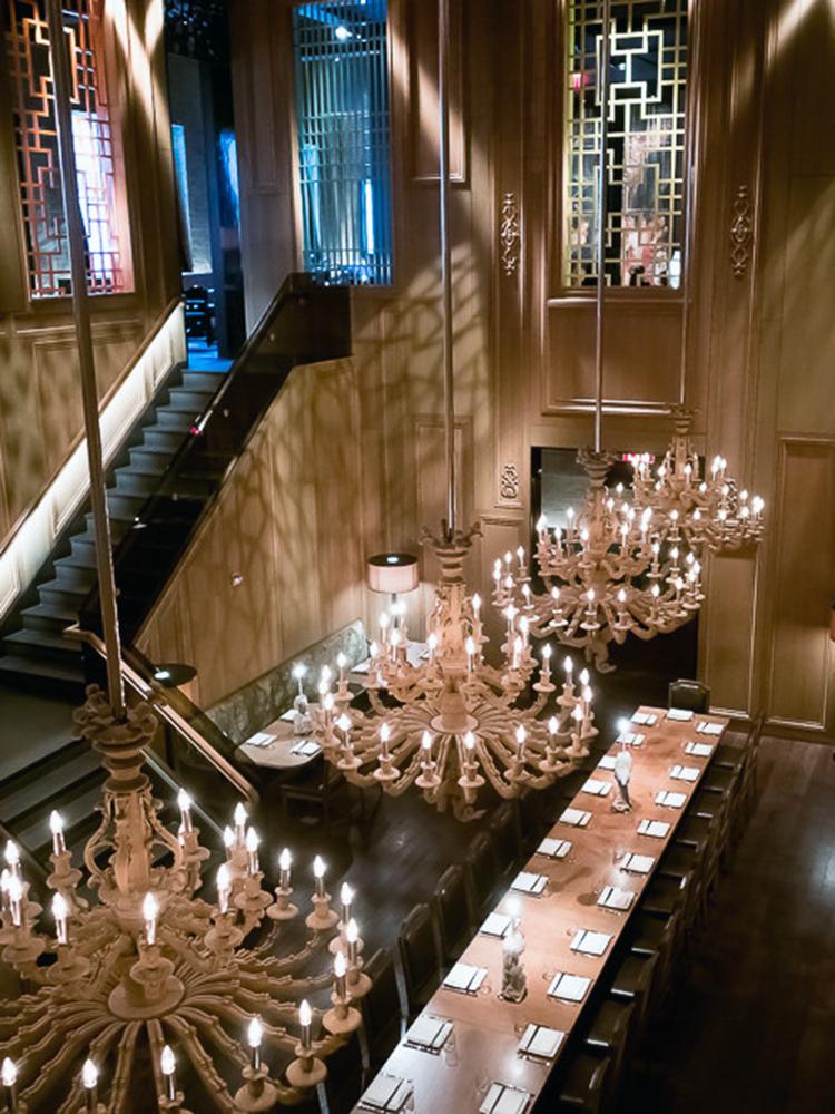 Langbordet på BuddaKan (reserveret man bordet, reserverer man hele restauranten!)