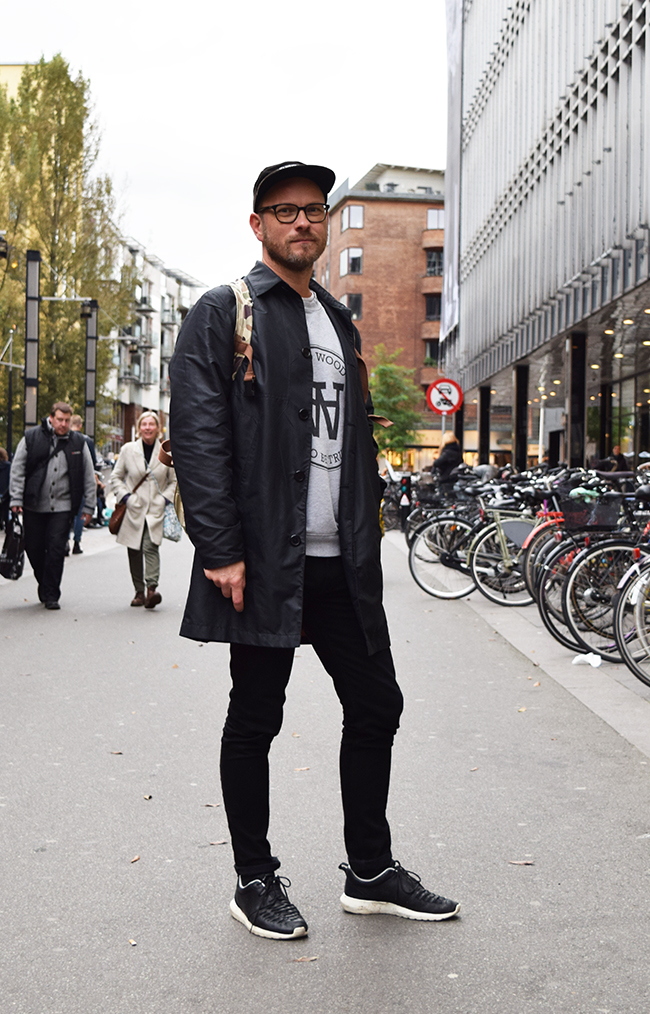 Street style danois à Aarhus.