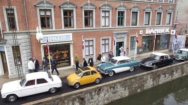 Une des rues du musée Den Gamle By