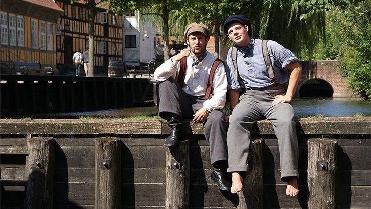 2 acteurs du musée den Gamle By