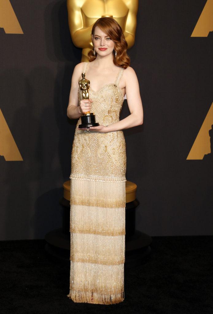 Emma Stone in Givenchy Oscars 2017