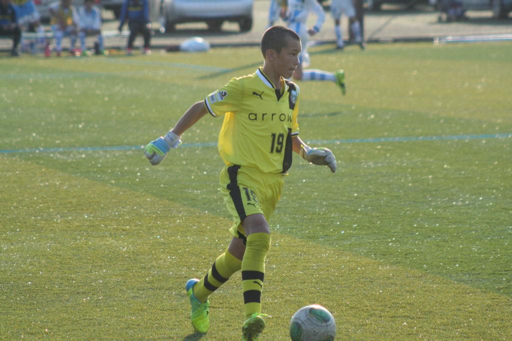 練習試合に出場したフロンターレU-12の長田澪選手