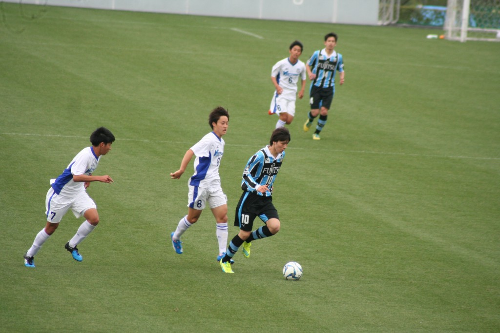 積極的に前へでた田中碧選手