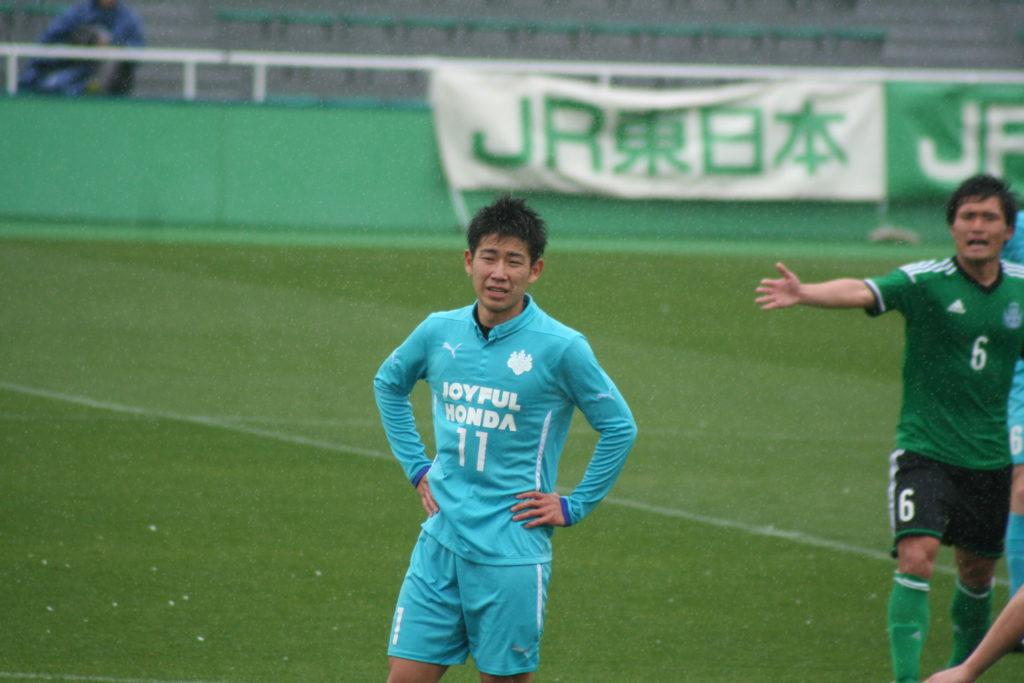 存在感のあった中野誠也選手。少し香川真司に似ている