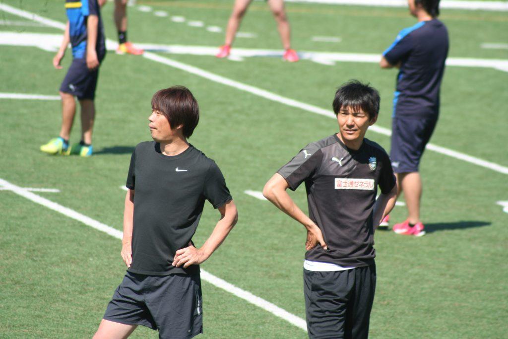 OBドリームマッチでキャプテンを務める中西哲生さんと伊藤宏樹さん