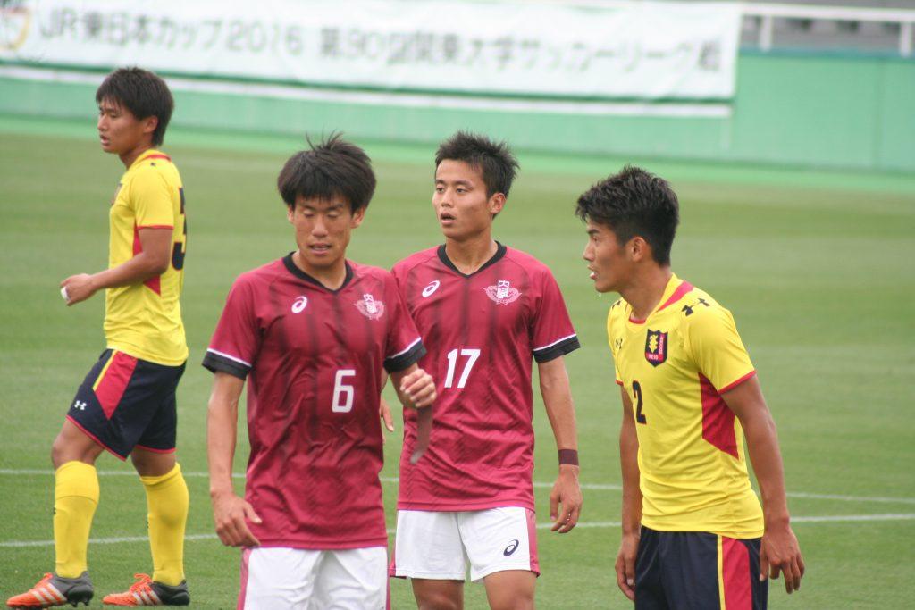 ゴールを狙う岡田優希選手