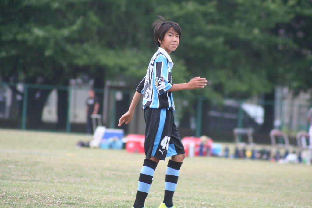 練習試合に出場した松森創平選手