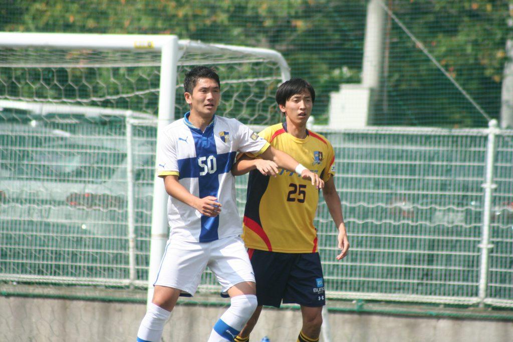 フロンターレU-18でもプレーしたエスペランサSCの古川頌久選手と元京都サンガの黄大城選手