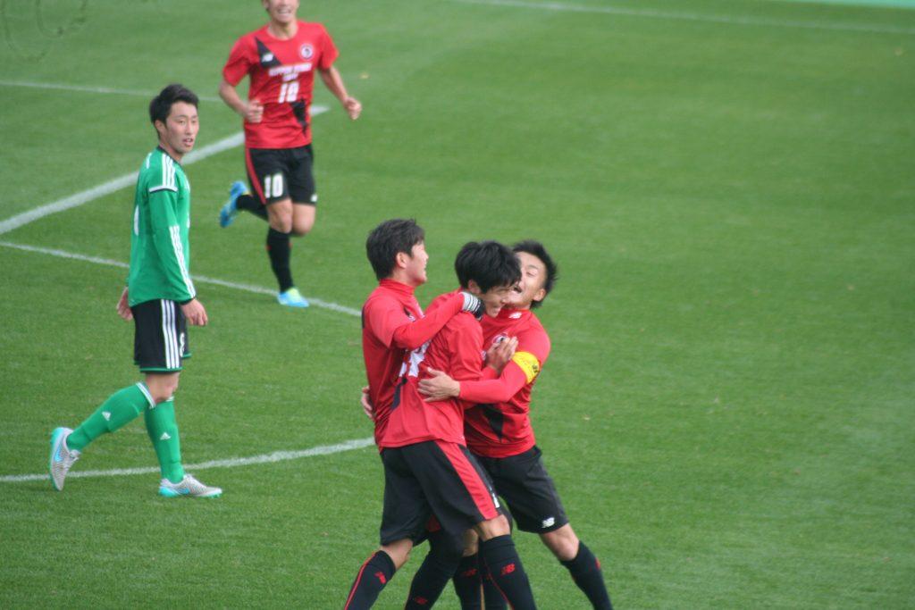日本文理大も上山俊介選手のゴールで追い付く