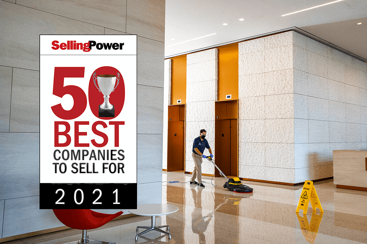 Selling Power 50 Best Companies to Sell for badge