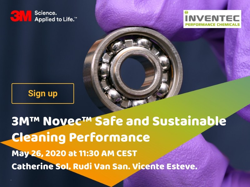 Webinar de 3M™ Novec™ Safe and Sustainable Cleaning Performance