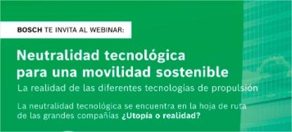 Neutralidad tecnológica para una movilidad sostentenible - webianr Bosch