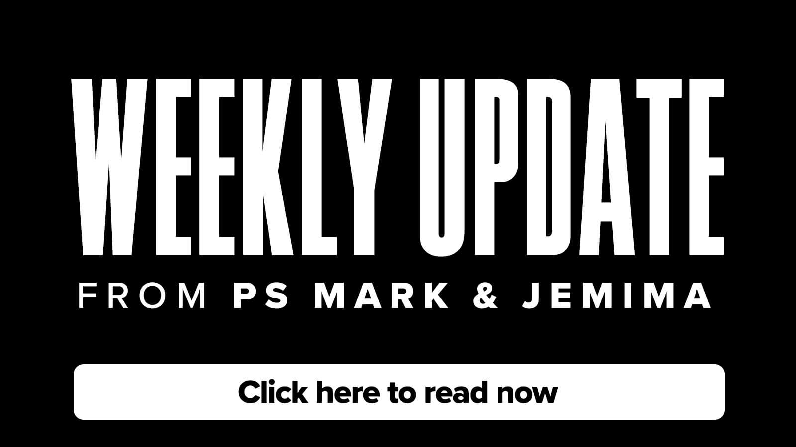 Stay in the loop with our weekly Global Update from Ps Mark & Jemima!