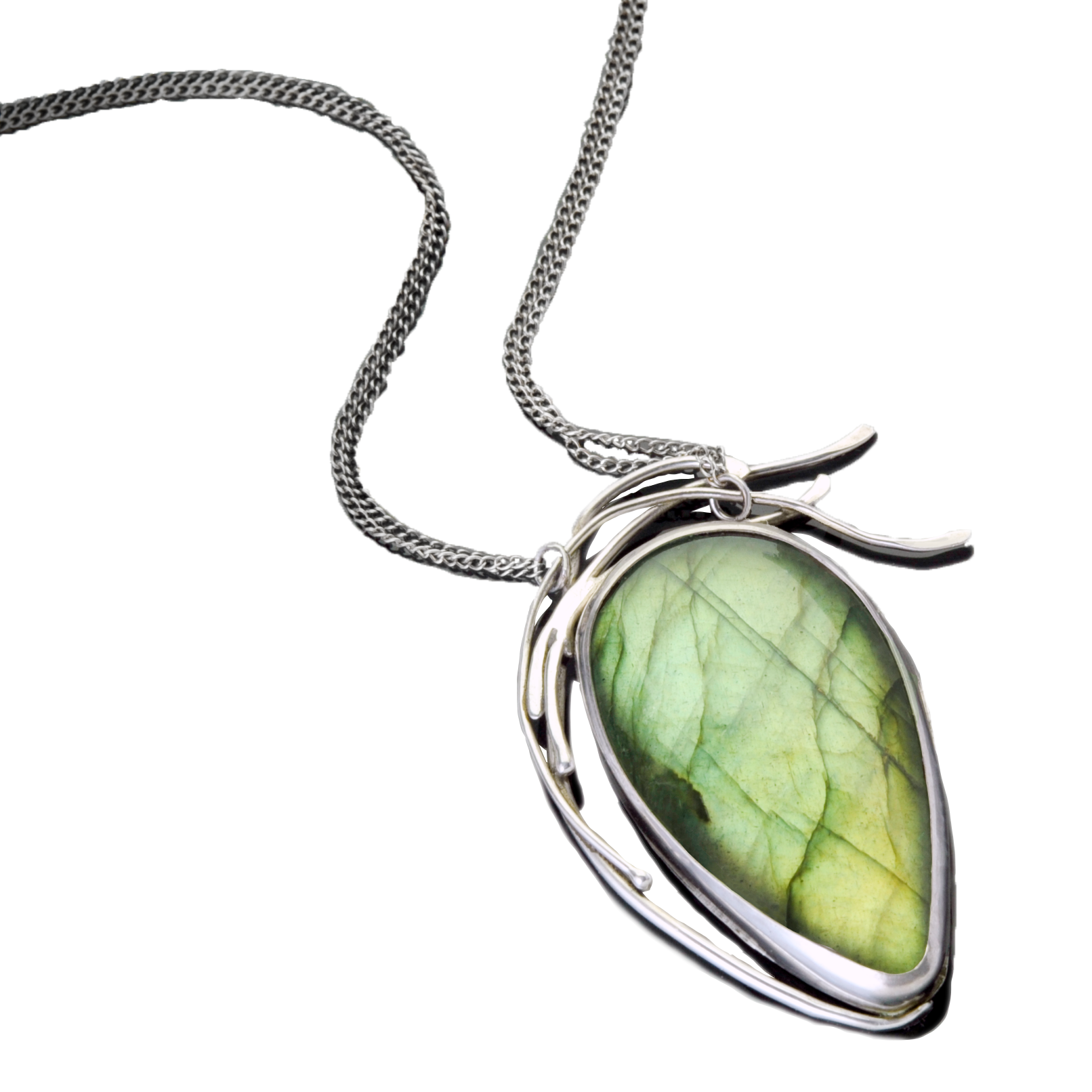 Willow Weep for Me Labradorite Pendant by Kaelin Design Fine Art Jewelry