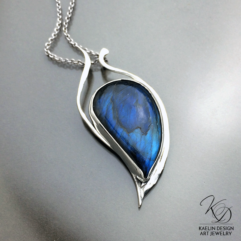 Water Dancer Labradorite Handmade Pendant by Kaelin Design