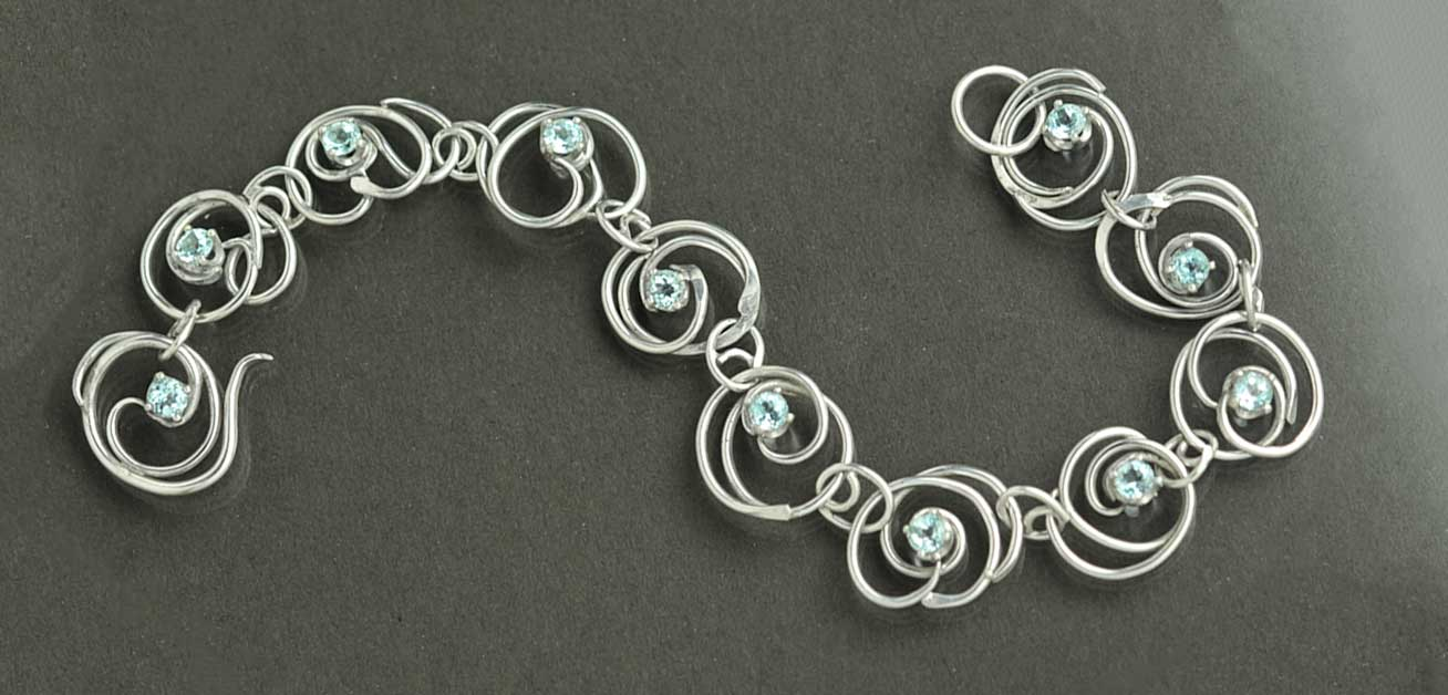 Tideswept Bracelet by Kaelin Design Fine Art Jewelry
