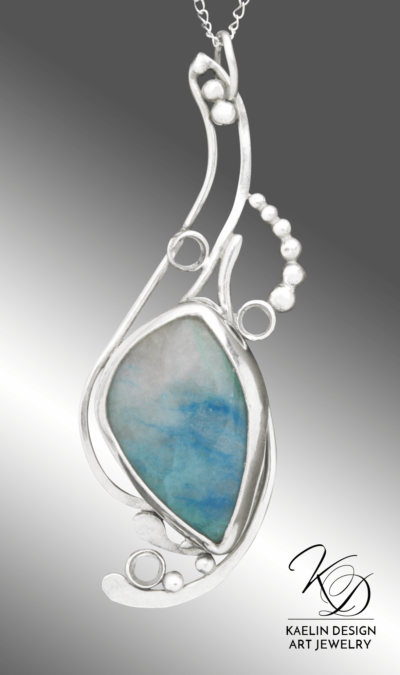 Spindrift Chrysocolla Fine Art Pendant by Kaelin Design