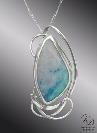 Ocean's Foam Fine Art Jewelry Pendant by Kaelin Design