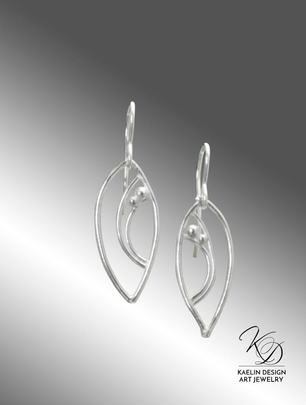 Gentle Tides Hand Forged Silver Art Earrings