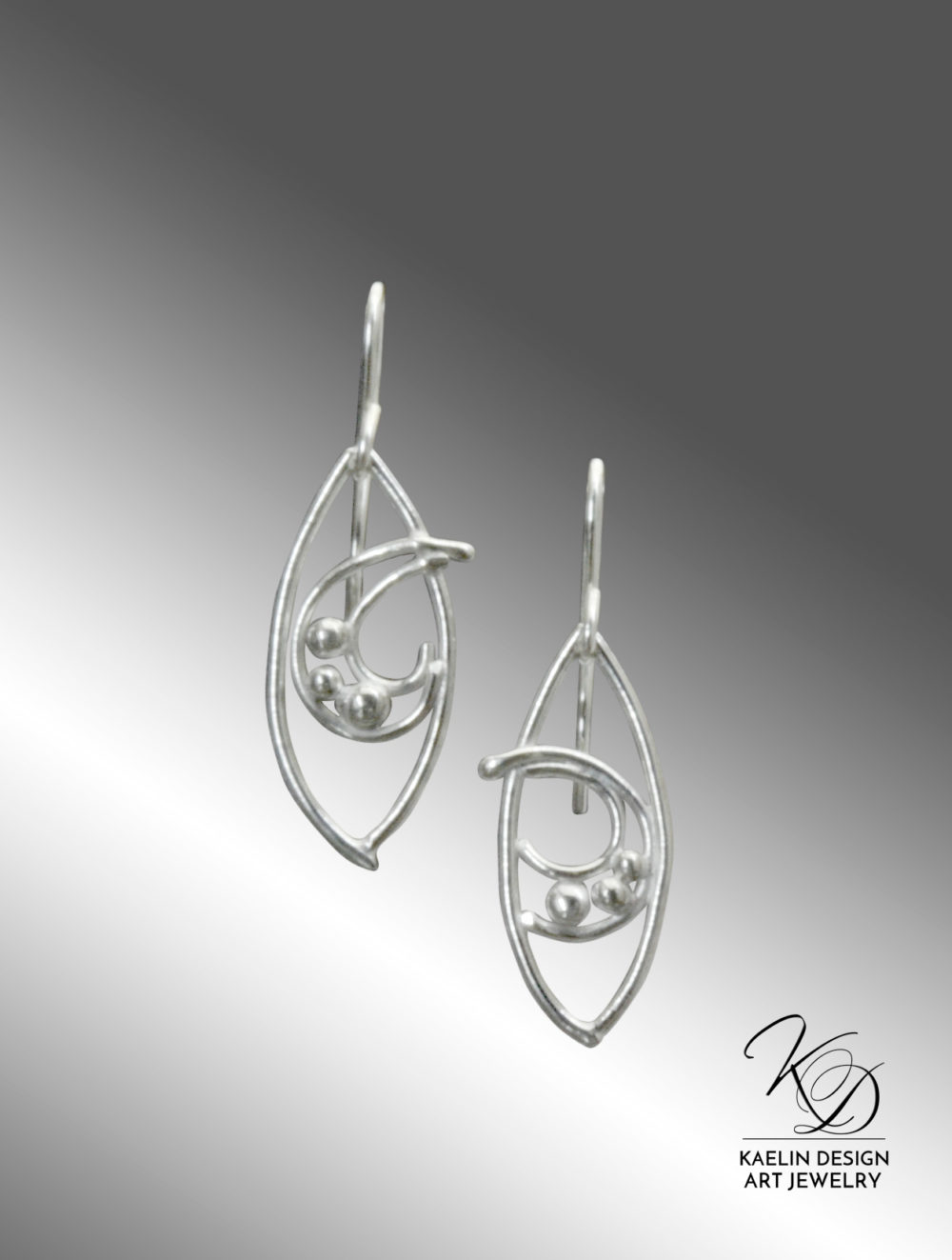 Rough Waters Hand Forged Sterling Silver Fine Art Earrings by Kaelin Design