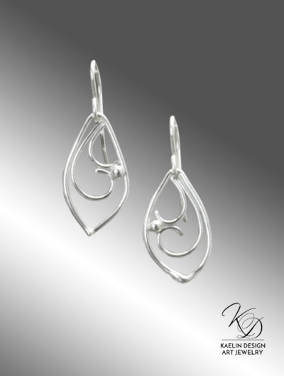 Tidal Seas Hand Forged Sterling Silver Fine Art Earrings by Kaelin Design