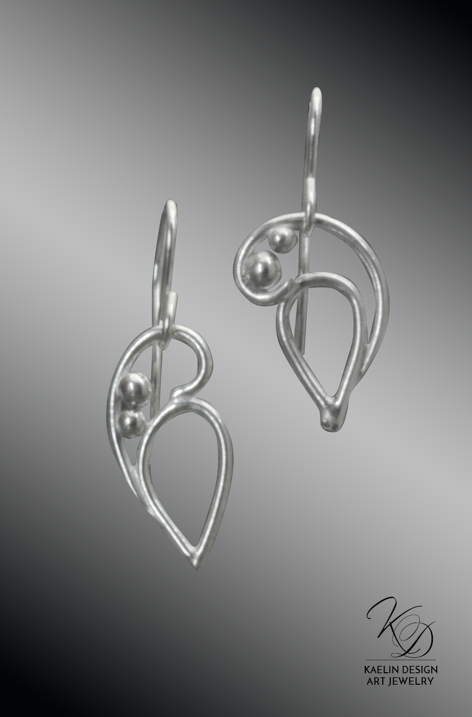 Cresting Tides Sterling Silver Earrings by Kaelin Design