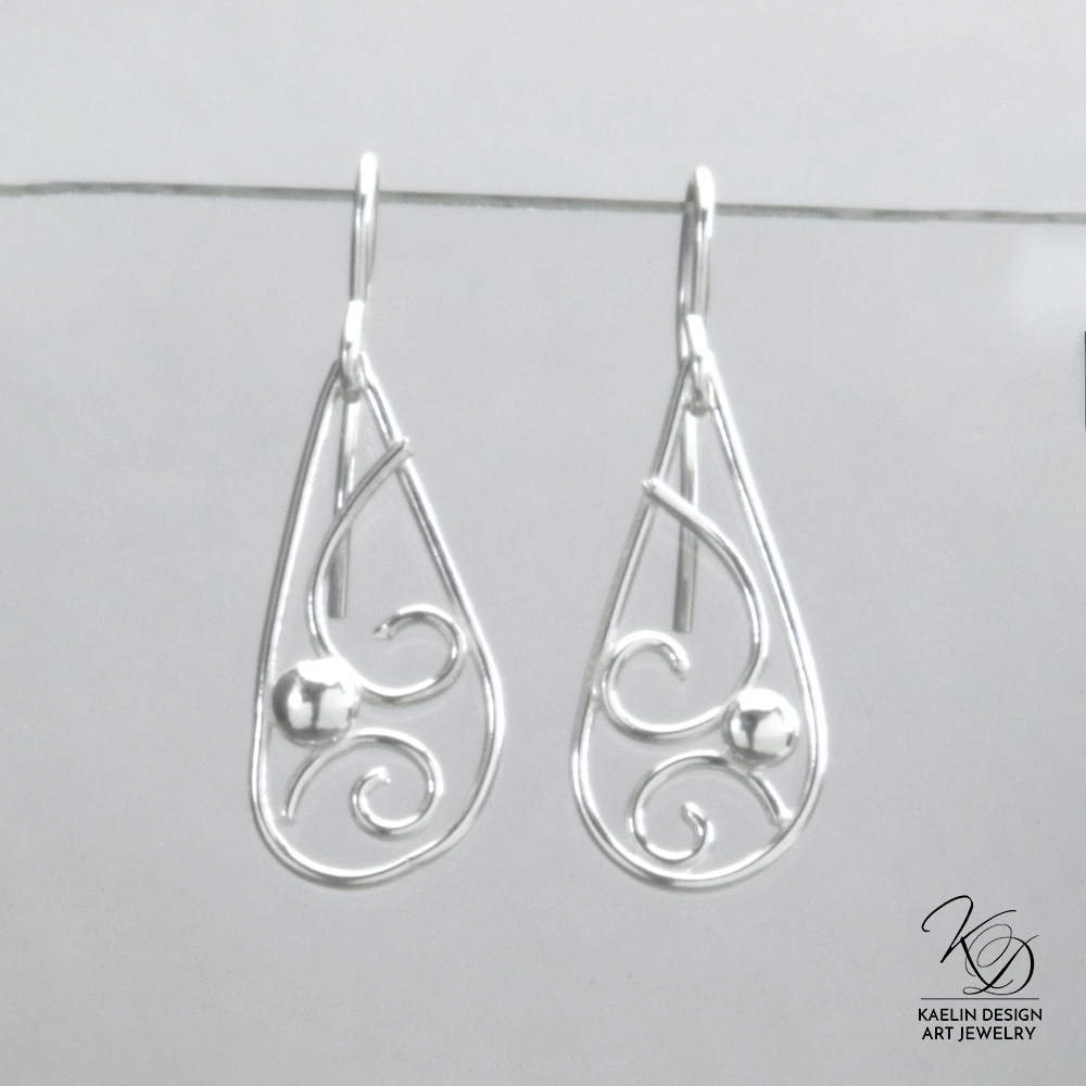 Silver Seas sterling earrings by Kaelin Design