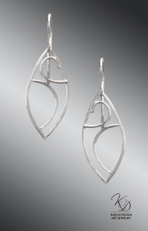 Océane Sterling Silver Ocean inspired Art Jewelry Earrings by Kaelin Design