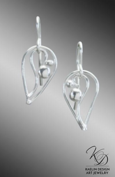 Nerida Sterling Silver Art Jewelry Earrings by Kaelin Design