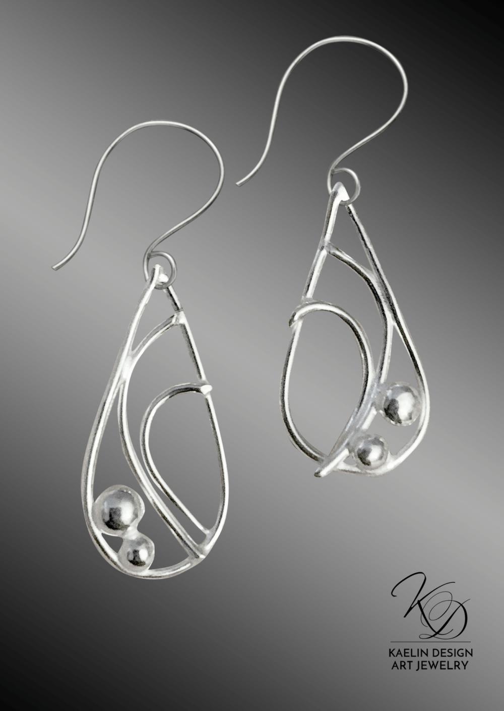 Delicate Tides Sterling Silver Earrings by Kaelin Design