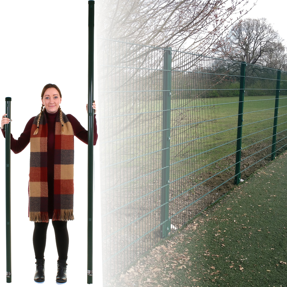 40 x Fencing Rattling Fence Panel Wind Gale To Fit All Sizes Of Concrete Posts