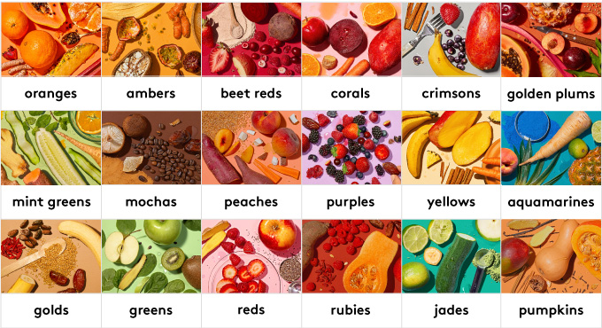 15 functional flavors to choose from: jades, purples, rubies, mocas, crimsons, corals, golds, greens, pumpkins, aquamarines, peaches, reds, scarltes, yellows, ambers
