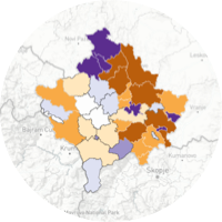 <b>Rich, interactive maps</b> for <b>hyper-local analysis</b> and navigation from national down to ballot box level.