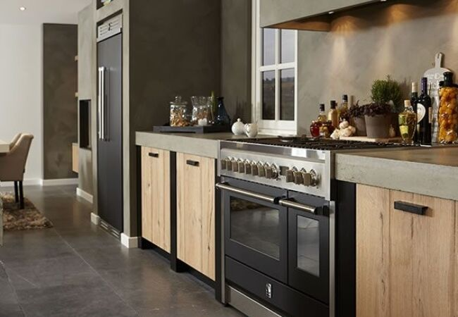 Houten Keuken Beton : Zwarte keuken inspiratie keukenstudio maassluis