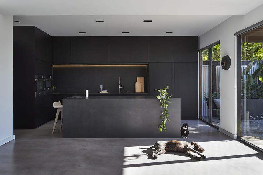 Large Format Porcelain Tile Kitchen Countertops
