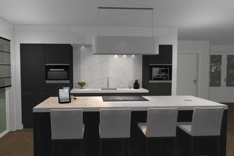 Keuken ontwerpen keukenstudio maassluis for 3d tekenprogramma