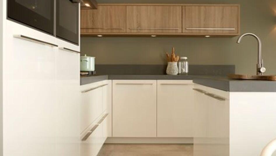 Keller Keuken Fronten : Keller keuken wit en hout keukenstudio maassluis