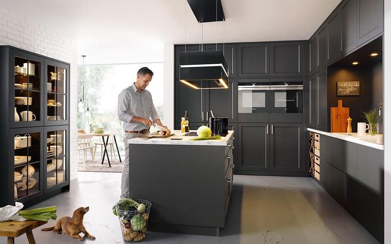 Marmer Zwart Keuken : Zwarte keuken