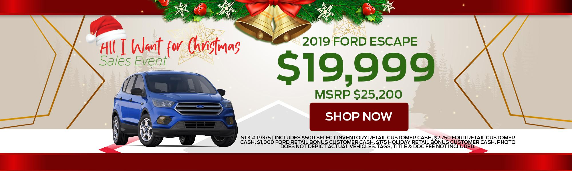 2019 Ford Escape Offers