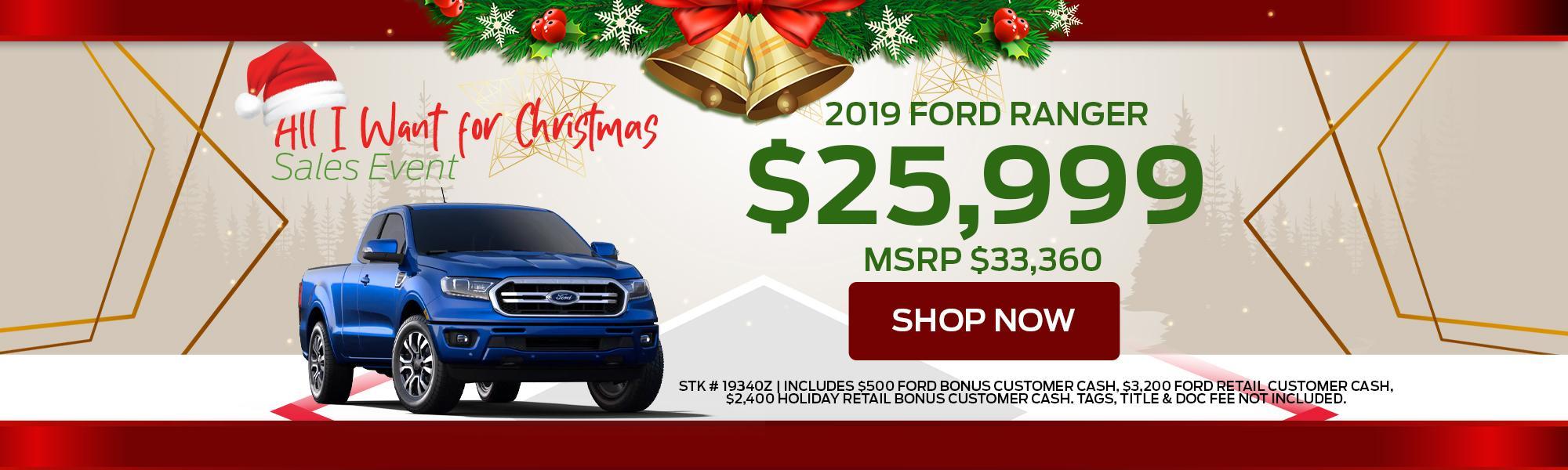 2019 Ford Ranger Offers